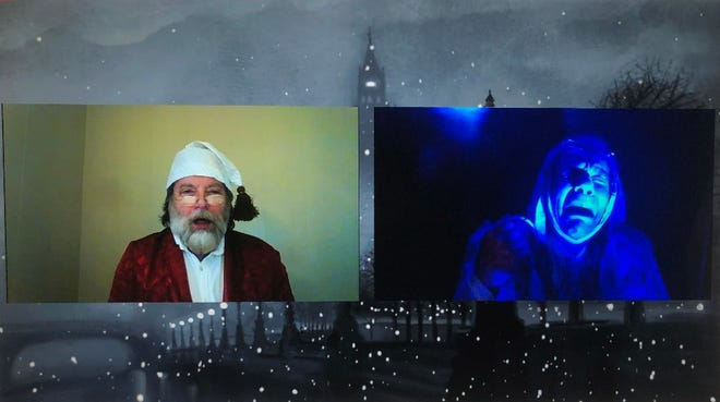 """Dennis Rendleman and Pat Foster in """"A Christmas Carol."""""""