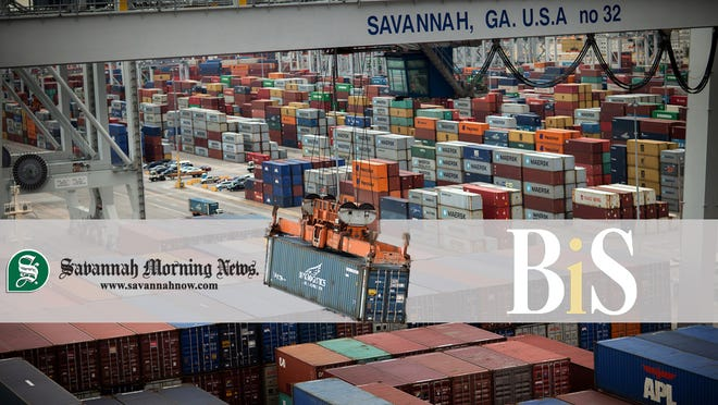 December capped a busy year in containerized trade for the Georgia Ports Authority. (Georgia Ports Authority/Stephen B. Morton)
