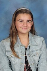 Audrey Padgett of Topsail Elementary is Pender County's Student of the Week.