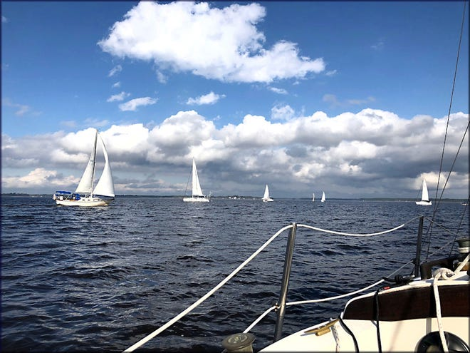 The Fairfield Harbour Yacht Club photo of the month was taken from the deck of Treasure Cove during the FHYC Thanksgiving Holiday Series Race. Even in the late fall here with social distancing still an issue, the FHYC continued to stay vibrant and active. A big thank you goes out to all those who assisted as support boats during the Holiday Series Races. Please be sure to submit your best winter holiday photos to fhyc-photos@hotmail.com in the months ahead.[CONTRIBUTED PHOTO]