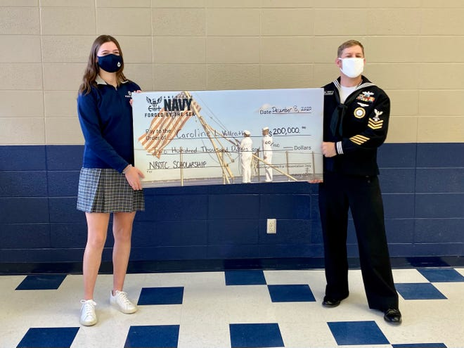 Caroline Vollrath, a senior at Hayden High School, recently received a $200,000 scholarship from the Navy ROTC.
