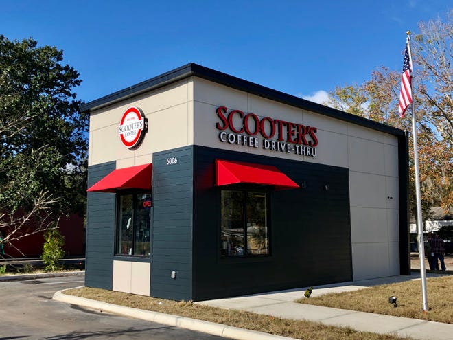 The new Scooter's Coffee, at 5006 NW 34th Blvd. The drive-thru shop serves up beverages, breakfast sandwiches and pastries. [Emily Mavrakis/The Gainesville Sun]