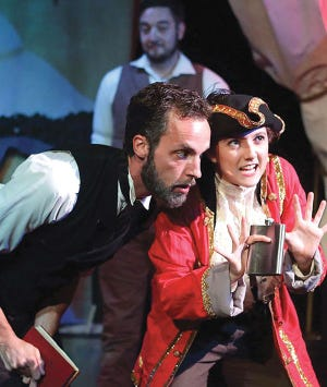 Brook Stetler and Charis Sellick appear in a Seaside Repertory Theatre production.