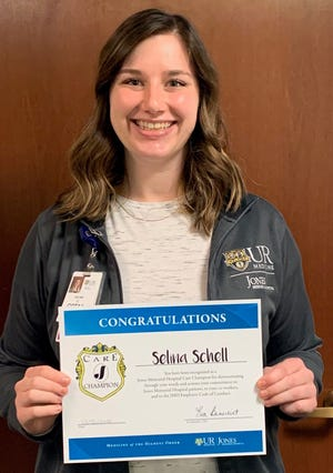 Selina Schell, Certified Occupational Therapy Assistant at Jones Memorial Hospital, has been selected as the second Care Champion for 2020.