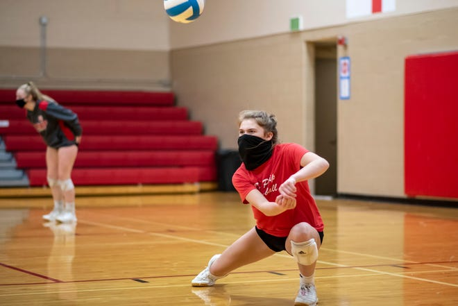 Brooke Dzwik and the St. Philip volleyball team will play in the state quarterfinals on Tuesday, looking for a chance to get back to the Final Four at Kellogg Arena.