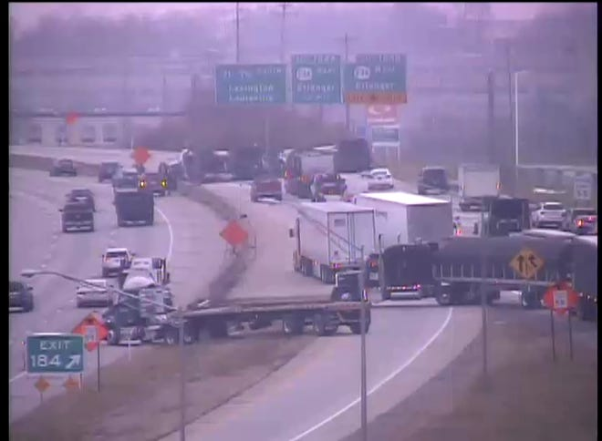The ramp from I-275 to southbound I-71/71 will be closed for multiple hours after a crash Monday afternoon.