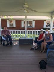Soon after their 61st wedding anniversary in August, Larry and Nonie Dewell got to chat outside on the porch.