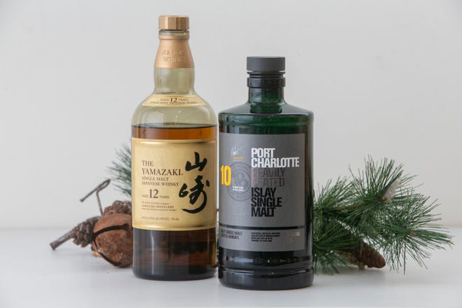 Wiski Jepang Yamazaki Single Malt, Port Charlotte Heavily Peated Islay Single Malt. Daftar wiski liburan tahunan Craig.