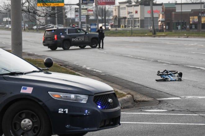A bicyclist was killed in a crash Dec. 21, 2020, on Cedar Street in Lansing.