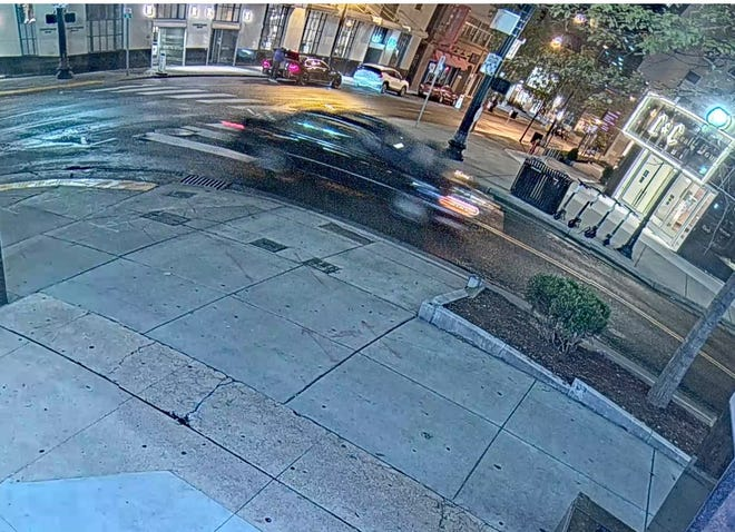 Nashville police are looking for information about this black, four door sedan connected to the scene of a fatal hit-and-run at 4th Ave. North and Church Street in the early morning hours of Oct. 26.
