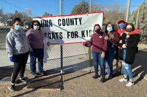 Luna County Coats for Kids staff handed out 477 winter coats to children on Friday at Smith Elementary School. The distribution was done as a drive-through, with the public emergency health order in mind.