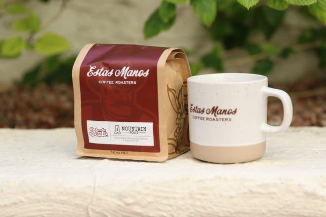 "New Mexico State University collaborated with Estas Manos Coffee Roasters in San Francisco to create ""A"" Mountain Roast. Nicholas Gonzales, co-fonder of Estas Manos, said he was pleased that the final product has the company's name in the front."