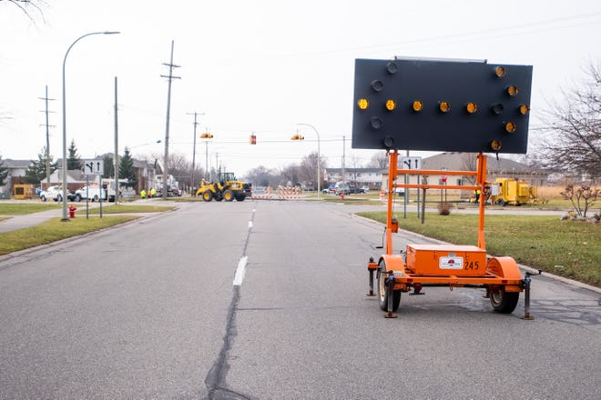 Electric Avenue is closed at 16th Street in Port Huron following a sewer issue.
