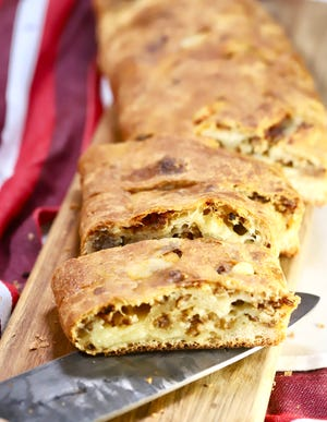 Easy Sausage Cheese Bread is great for a holiday breakfast or appetizer.