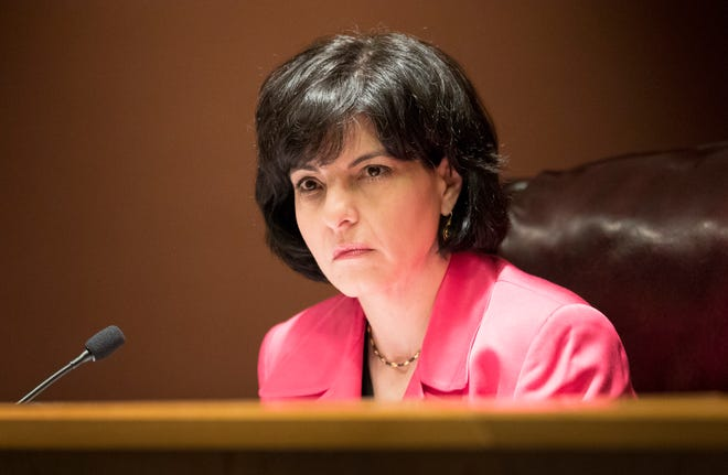 Chairperson Christi Craddick of the Texas Railroad Commission at a commission meeting on Tuesday May 22, 2018.