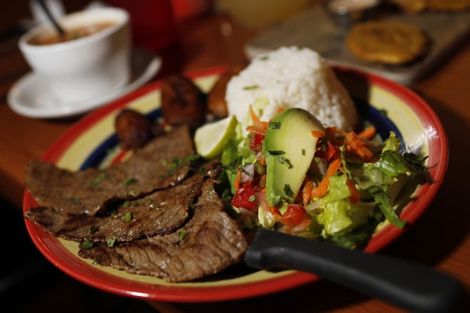 Carne Asada from Punta Cana Latin Grill in Athens, Ga., on Thursday, Dec. 12, 2019. The restaurant serves up a wide array of Dominican and other Latin American dishes.