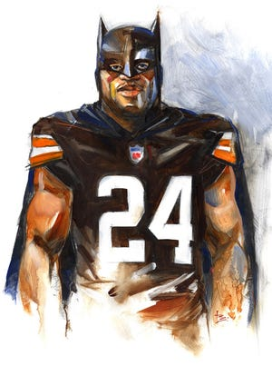 "Cleveland Browns running back Nick Chubb feels a connection to Batman based on the superhero's recovery in ""The Dark Knight Rises."""