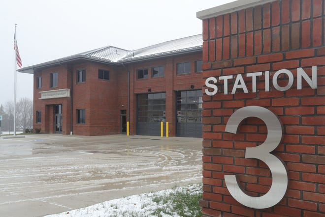 The construction of Cuyahoga Falls Fire Station No. 3 on Portage Trail was completed in 2020. [Phil Masturzo/ Beacon Journal]