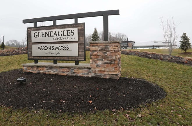 The Gleneagles Golf Course clubhouse and Aaron & Moses Pub/Tavern/Grille Monday, Dec. 21, 2020 in Twinsburg, Ohio.