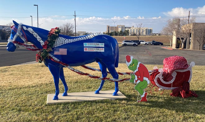 Advanced Pain Care's entry for the 2020 Deck The Herd Contest through Center City of Amarillo