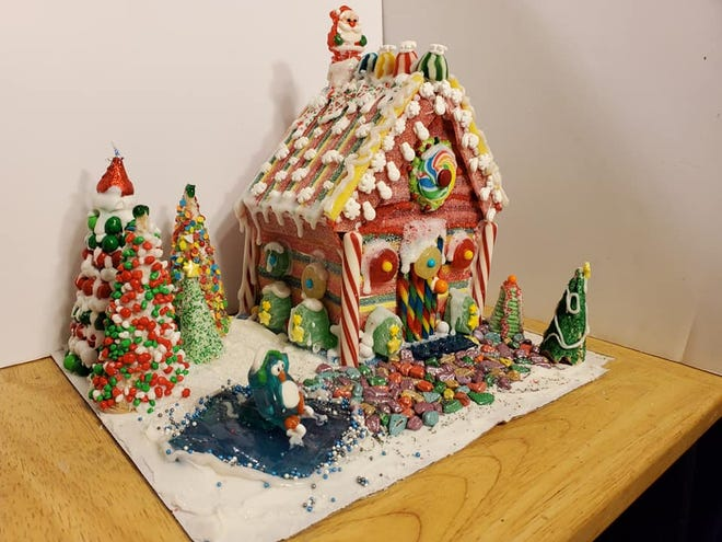 Tammie Stephens received first place in the senior category of the online gingerbread house decorating contest.