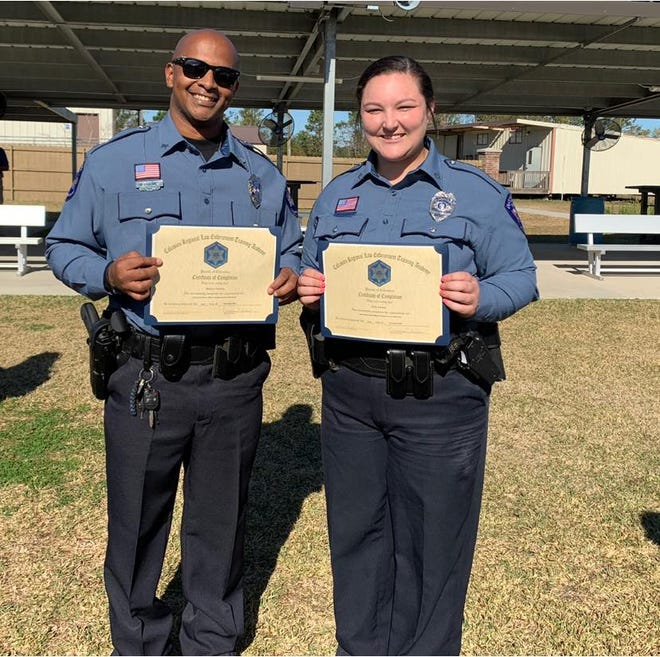 Kylie Harlow and Marlon Holmes are now certified Law Enforcement Officers.