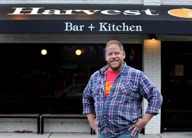 Andy Smith helped to start a Columbus chapter of Ben's Friends, a nonprofit organization that helps those working in the hospitality industry to become sober. Smith, pictured on Tuesday, December 22, 2020, has been sober for 10 years and works as a bartender at Harvest Bar and Kitchen in the Brewery District.