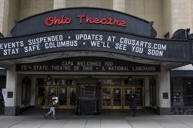 The area arts scene, including the Ohio Theatre in Downtown Columbus, has been eerily quiet this year due to the pandemic.