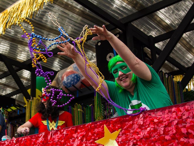 The Krewe of Apollo, shown here in 2019, will not roll after the Town of Lockport canceled its 2021 Carnival due to the COVID-19 pandemic.
