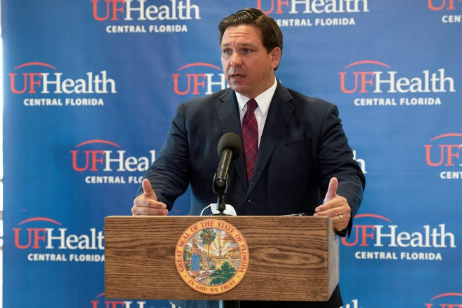 Gov. Ron DeSantis held a press conference earlier this month at the UF Villages Hospital, where the first COVID-19 vaccines in The Villages were administered.