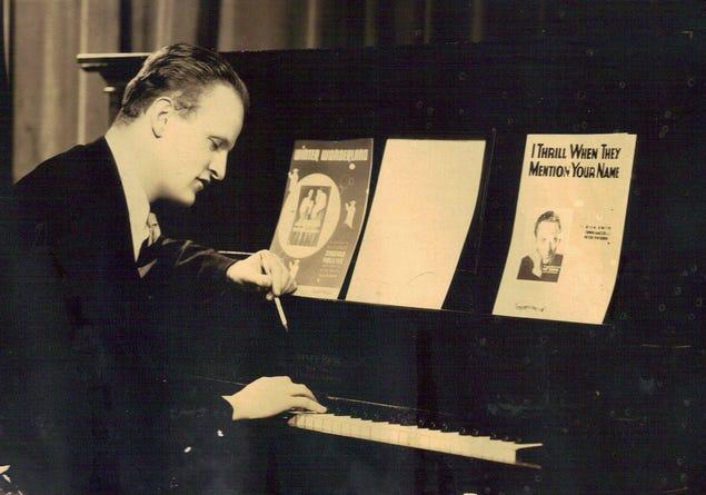 Richard B. Smith, who wrote the holiday song, Winter Wonderland, in 1934 / Wayne County Historical Society