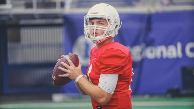 Memphis University sophomore quarterback Drake Day, who played three years for West Burlington-Notre Dame, will be on the sidelines for the Montgomery Bowl game against Florida Atlantic Wednesday night.