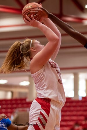 Glen Rose's Jeans Douglas paced the Lady Tigers with 20 points in the win over Fort Worth Eastern Hills on Saturday.