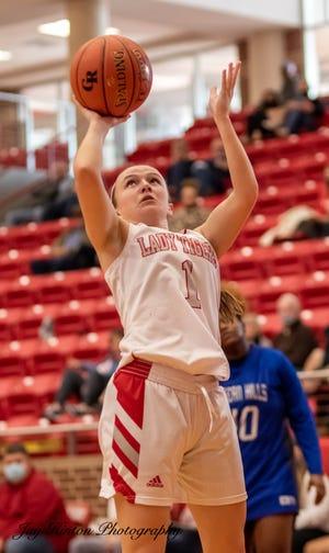 Glen Rose's Hazel Hawkins has a clean look at the basket against Fort Worth Eastern Hills on Saturday.