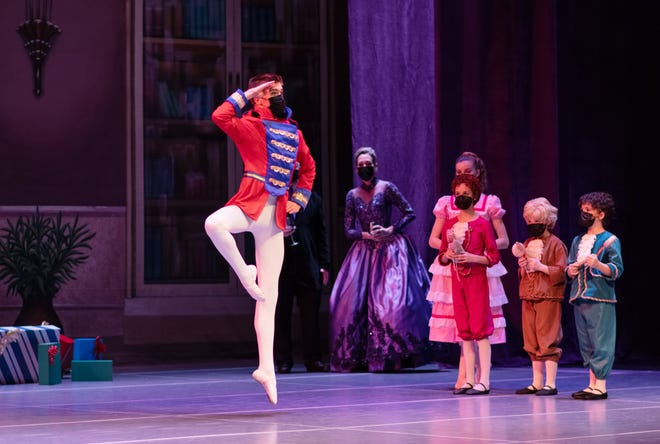 """Charlie Miller dances in the Wichita Metropolitan Ballet's production of """"The Nutcracker,"""" which is available to live-stream this week."""