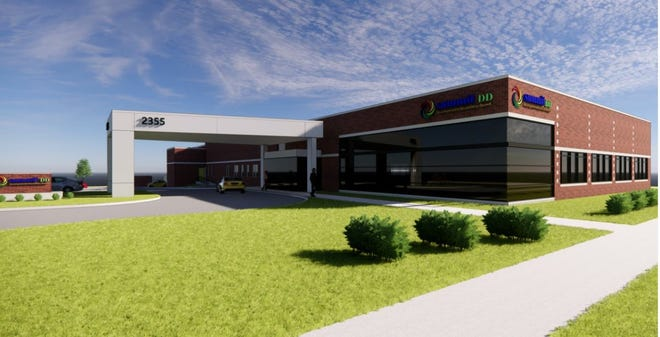 This is a rendering of the street view of the Summit County Developmental Disabilities Board's location in Cuyahoga Falls.  The city's planning commission has moved plans for a 7,200 square foot addition to the full City Council for consideration.