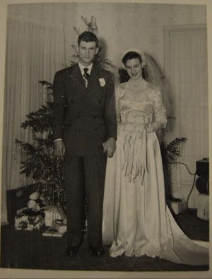 Jerry Calvin and Leta Louise Sisler were married on Dec. 24, 1950.