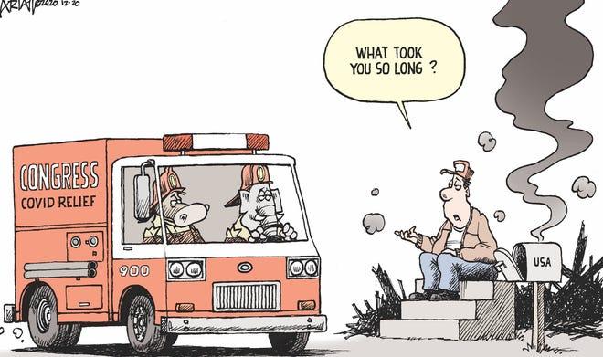 Robert Ariail cartoon on stimulus
