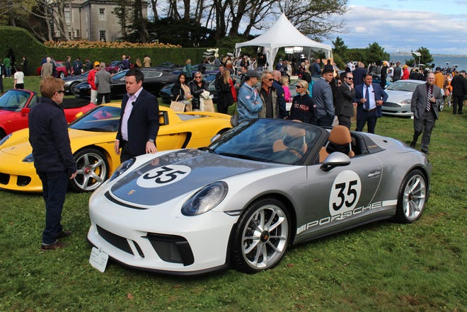 Guests gather for the Audrain Newport Concours & Motor Week in 2019.