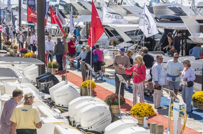 The Newport International Boat show was scheduled to celebrate its 50th anniversary this year before the event was canceled because of the pandemic. The milestone celebration is being planned for 2021.