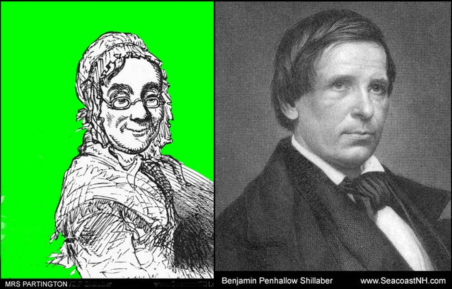 The fictional Mrs. Ruth Partington, a hugely popular 19th century literary character, was reportedly based on Portsmouth-born author Benjamin Penhallow Shillaber's aunt. The family lived in the city's North End. The author, on close examination, looks quite similar to his now largely forgotten alter ego.