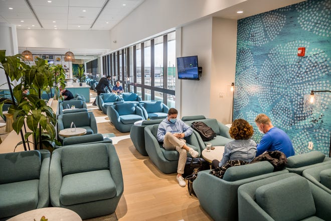The new Escape Lounge inside Palm Beach International Airport in West Palm Beach, Florida, on Dec. 18, 2020.