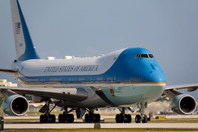 Donald Trump will take his last trip on the president's plane, Air Force One, the morning of the inauguration, headed for Palm Beach.