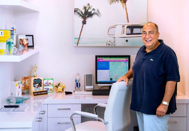 Stephen Bauman in the office Dec. 22, 2020, at the home he recently moved into in Boca Raton. Like many people, Bauman doesn't go into an office anymore because of COVID-19. He works remotely from his new home at Boca Bridges.