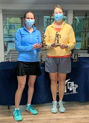 Eileen Mahoney and Christina Cook won the December Sports Barn women's doubles 6.0 combined rating tennis tournament earlier this month at the Hampton indoor facility. The next Sports Barn Tennis Tournament is taking place on Saturday, January 9. The divisions will be women's doubles 3.0, boys singles 18-and-under, and green sall singles 12-and-under. For more information or to register, please call the Sports Barn at (603) 926-2276.