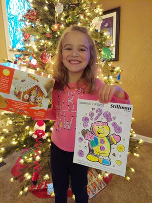 Stillman Bank recently announced the winners of its annual Christmas coloring contest for kids ages up to 10. Kaylie Wheelock of Rockford is among the winners.