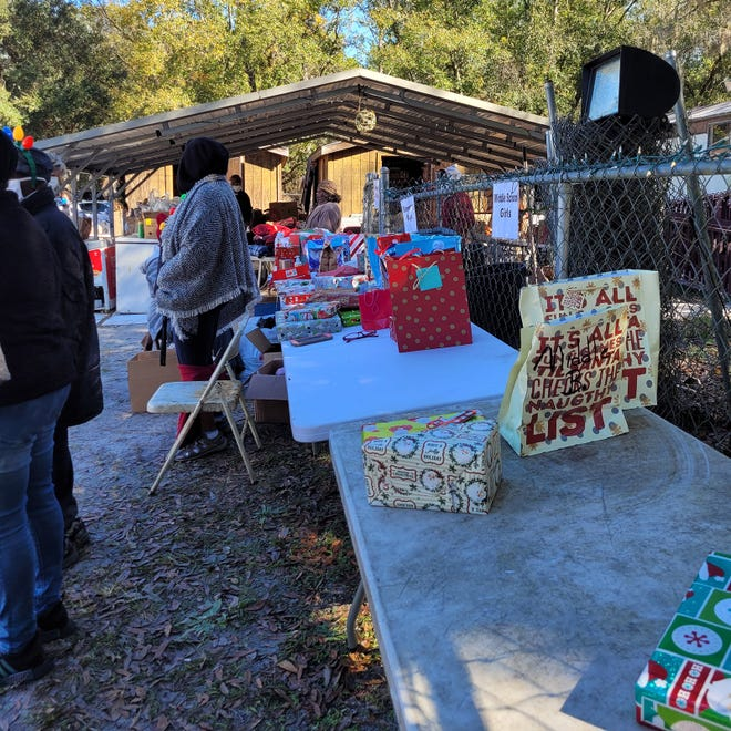 The SEA Community Center gave out Christmas baskets Friday in Armstrong. The basket contained food, clothing and age-appropriate toys.