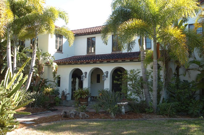 This walled, gated house at 613 W. Venice Ave., Venice, owned by Curt and Tommye Whittaker, was recently added to the Venice Local Register of Historic Places.