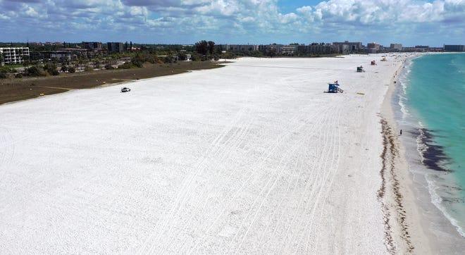 Siesta Public Beach in March 2020.