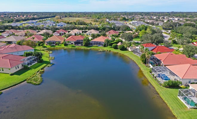 The Mandalay gated community in Bradenton. Home sales in Sarasota-Manatee continued to rise in November.